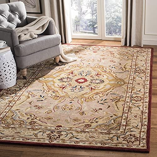 Safavieh Anatolia Collection AN534A Handmade Traditional Oriental Premium Wool Area Rug, 8' x 10', Gold / Ivory