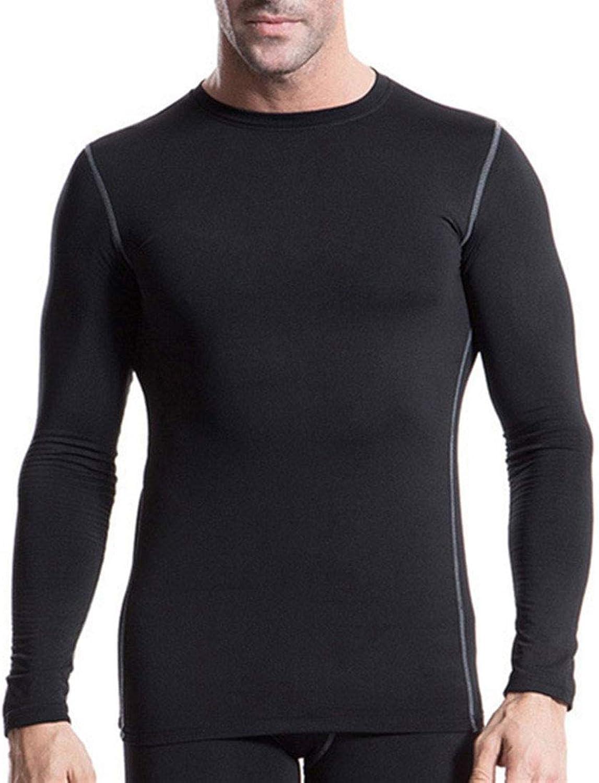 SANKE Men's Fleece Lined Compression Baselayer Thermal Workout Long Sleeve Shirt