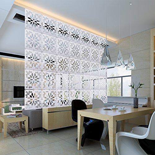 Kernorv DIY Raumteiler Trennwand zum Aufhängen, dekorative Paneele, 12 Stück, Raumteiler zum Aufhängen, Trennwand für Schlafzimmer, Esszimmer, Wohnzimmer, Wohnzimmer und Wohnzimmer