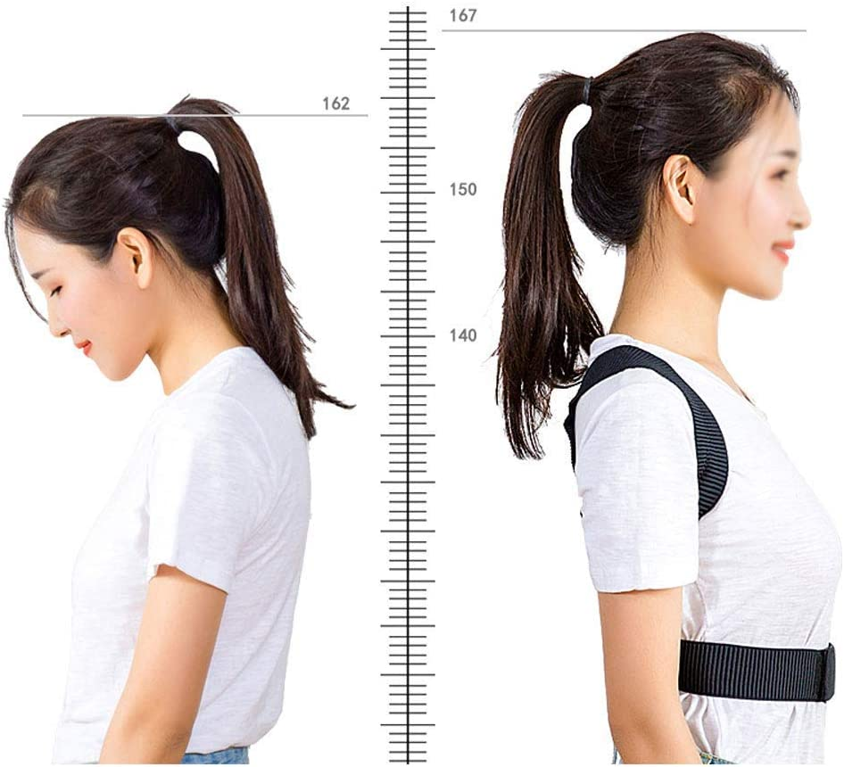 YUMUO ?? Correction Belt Adult Male and Female Invisible Student Children Treat The Spine to Correct The Back Artefact Back Braces (Size: L) 3