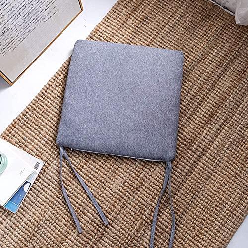 TYHZ Cojines Para Sillas Silla de tela de lino Cojín para el hogar Cojín de asiento almohadilla, Confort Almohadillas de silla de comedor transpirable Cojín de silla Lavable Adecuado para uso en inter
