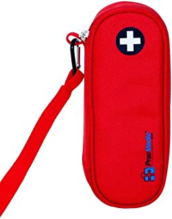 PracMedic Bags EpiPen Case Insulated, Compact - Holds 2 EpiPens, Asthma Inhaler, Anti-Histamine - Immediate Access to Allergy Medications During Emergency Situations for Kids and Adults (Red)
