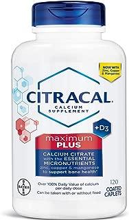 Citracal Maximum Plus Coated Caplets, 120 ea