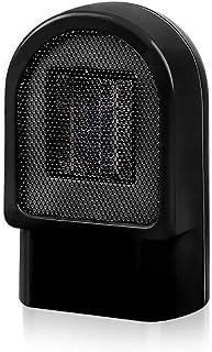PTC Cerámica 500W Calefactor,Ahorro Energía Portátil Silencioso Ventilador Calefactor,Protección Sobrecalentamiento Y Antivuelco,3S Calentamiento Rápido,Sala Estar Dormitorio Oficina Mesa Uso,Negro