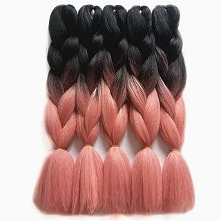 Braiding Hair Extensions Japanese Fiber Braids 24 Inch 100G/Pc Females Purple Pink Crochet Hair T#27/613 24inches