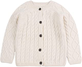 WeddingPach Twist Baby Girls Sweater Cotton Long Sleeve Cardigan for Girls Infant Toddler Sweaters Autumn Winter