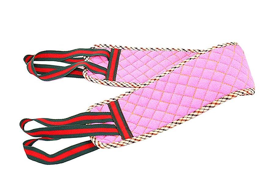 見る人ファッション作業ピンクの両面厚い強力なエクスフォリエーションシャワースポンジバスタオル