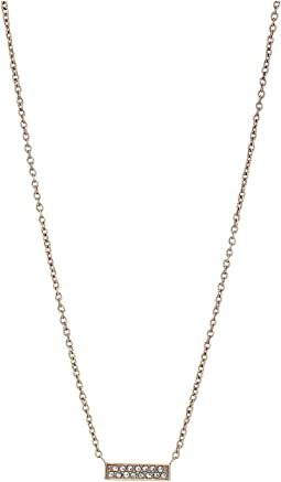Vintage Glitz Fun Fetti Bar Necklace