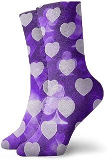Kevin-Shop, Jugando a Las Cartas Símbolos Brillantes Calcetines Tobilleros Calcetines Casuales y acogedores para Hombres, Mujeres, niños