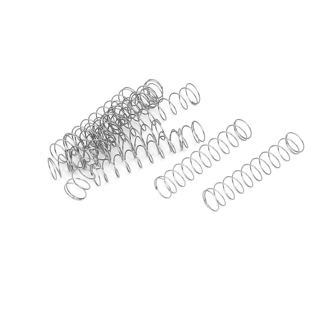 今日ローストベリーuxcell 圧縮ばね 圧縮スプリング 304ステンレス鋼 0.3mmx6mmx30mm 10個入り