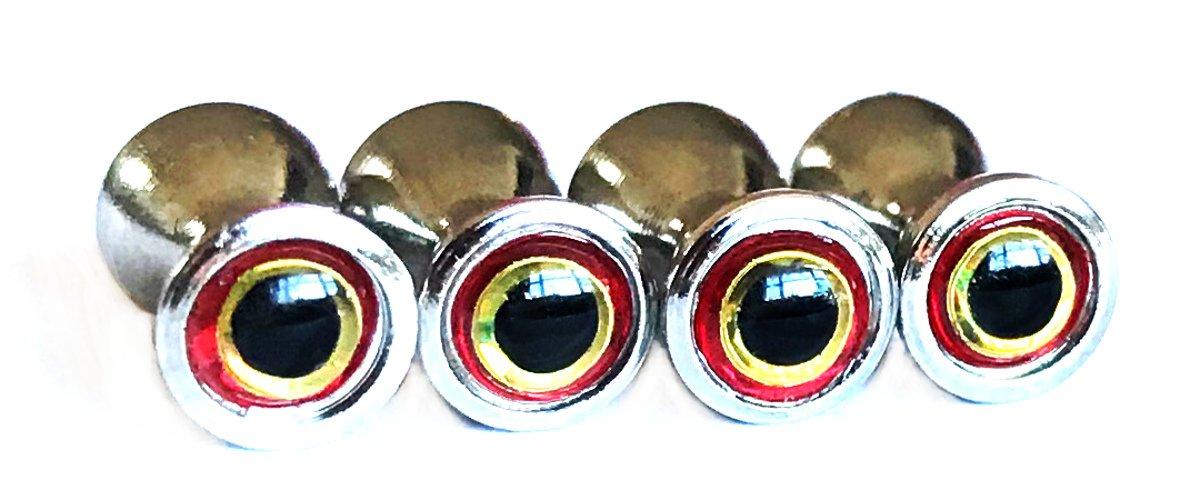 Brule 3-D Brass Dumbbell Eyes (S,M-25/pack, L-20/pack) Fly Tying Streamers