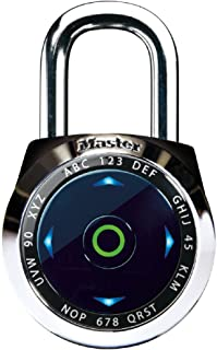 Master Lock Padlock, dialSpeed Set Your Own Combination Digital Lock, 2-1/16 in. Wide, Assorted Colors, 1500eXD