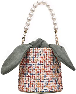 Crossbody bag Chain Women's One shoulder Beaded handbag Multicolor