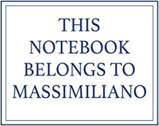 This Notebook Belongs to Massimiliano