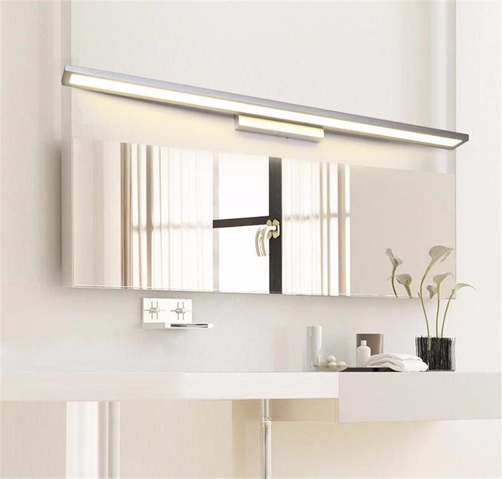 SJUN LED Spiegel Frontlicht Badlampe Badleuchte Spiegellampe Spiegelleuchte Bad Leuchte Wandlampe Spiegel-Beleuchtung Silber (Color : 90cm) 90cm