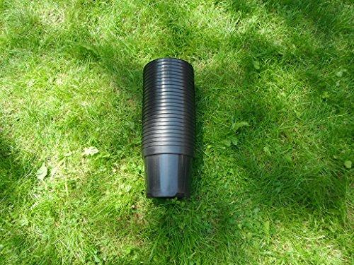 25 x 3 litre 3L Noir Rond Plastique Polypropylène Jardin Pots de fleurs – Pots de bonne qualité