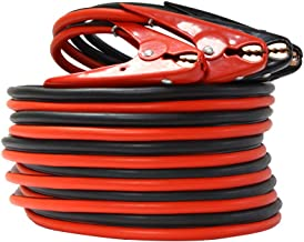 1-Gauge 800A Heavy Duty Jumper Battery Cables 25 Ft Booster Jump Start - 25' Allows you to boost battery from behind a vehicle!