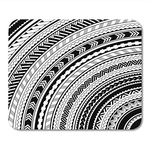 Mausemat Aboriginal Black Polynesian Von Maori Style Ornamente Ethnische Themen Tattoo Arm Für Matten Arbeitsschule Rubber Desk Personalisierte Spezielle Laptop-Tastatur Mousepad