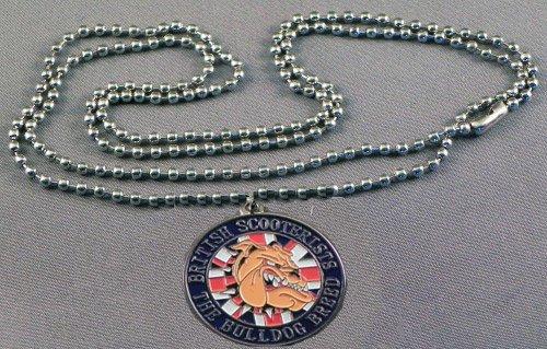 Pendentif en métal émaillé Motif drapeau britannique Union Jack Vespa Lambretta Scooter Peau Reggae Northern Soul