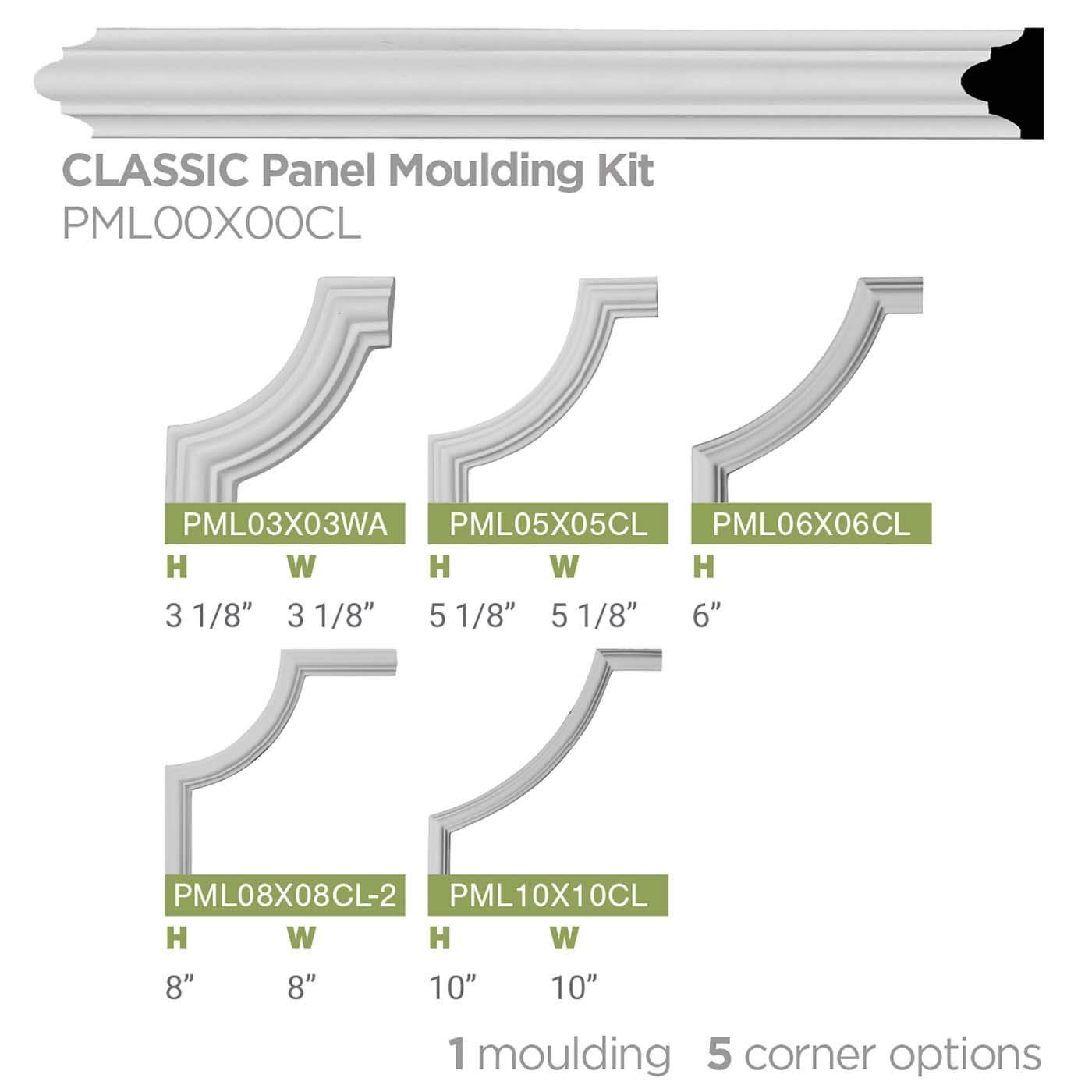 Ekena Millwork MLD12X10X15CL Classic Crown Moulding 11 7//8H x 9 1//2P x 15 1//4F x 94 1//2L Factory Primed