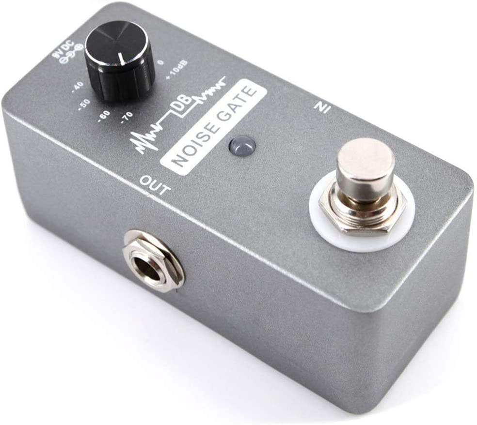Efecto de la guitarra Pedal de efecto de guitarra Puerta de ruido de guitarra eléctrica for reducción de ruido Pedal de puerta de ruido de guitarra portátil con controlador de puerta de ruido de alta