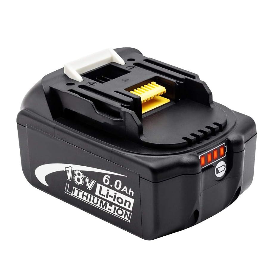 植生市民つまらないRoallybattery BL1860B マキタ18vバッテリー6000mAh大容量バッテリー互換バッテリー マキタBL1830B BL1850 BL1830 BL1850B BL1840B BL1820B 1個セット 一年保証