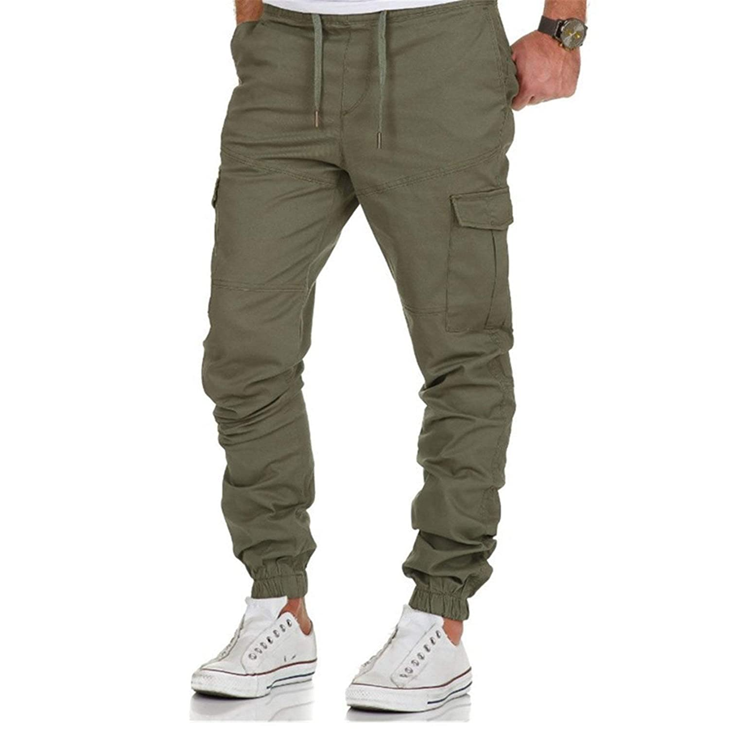 Men Cargo Long Pants Slim Fit Oklahoma City Mall Casual Trousers Ranking TOP2 Work Sports Jogger