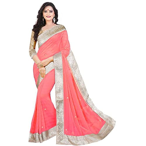 11e163b4f07f2 Effigy onlinehub Women s Georgette Saree With Blouse Piece (Zecardpatta)