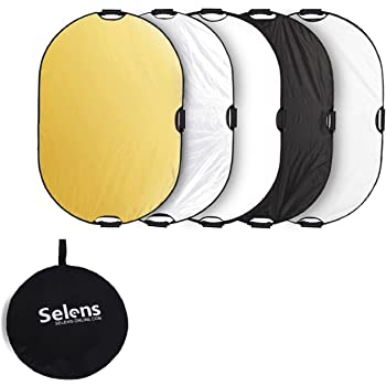 Selens 5-in-1 48x72 Inch Large Oval Reflector with Handle, Collapsible for Photography Photo Studio Lighting & Outdoor Lighting