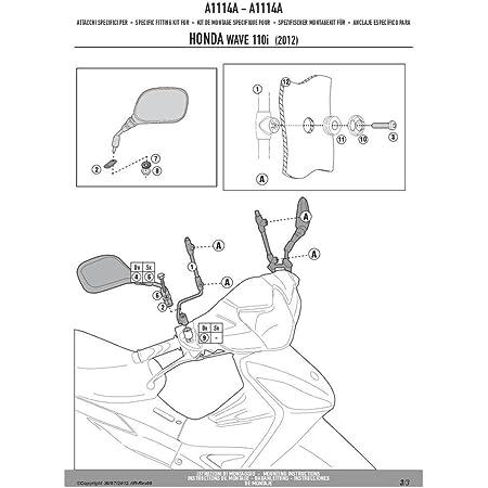Givi A107a Montagekit Für Scheibe 107a Auto