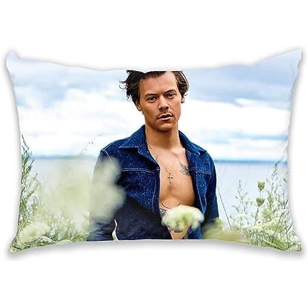 Vvv123 Harry Styles Funda de cojín para decoración del hogar, tela suave cepillada, 50 × 70 CM