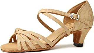 Miyoopark GL258 Women's Knot Cross Strap Synthetic Latin Dancing Shoes Wedding Sandals