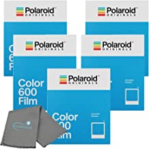 Polaroid Originals Color Instant Film for 600 and i-Type Cameras Bundle with a Lumintrail Cleaning Cloth
