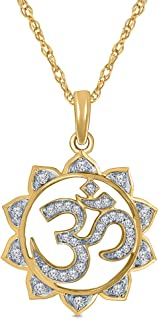 Mia Diamonds 14k Yellow Gold Polished Om Symbol Pendant