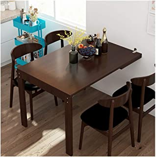 Folding Table, Wood Wall Mounted Table, Folding on The Wall to Become a Photo Frame, Folding Wall Table, Wall Desks for Small Spaces (Color : Brown, Size : 120cm×80cm×75cm)