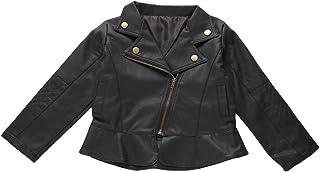 a8d68a19 Chaqueta de piel Punk Rock para niños, regalo de Navidad, niña, 80 cm