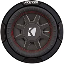 Kicker CompRT Single 6.75 Inch 300 Watt Max 2 Ohm Shallow Slim Car Subwoofer