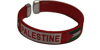 SUPERDAVES SUPERSTORE Palestine Red Country Flag C' Bracelet Wristband. New
