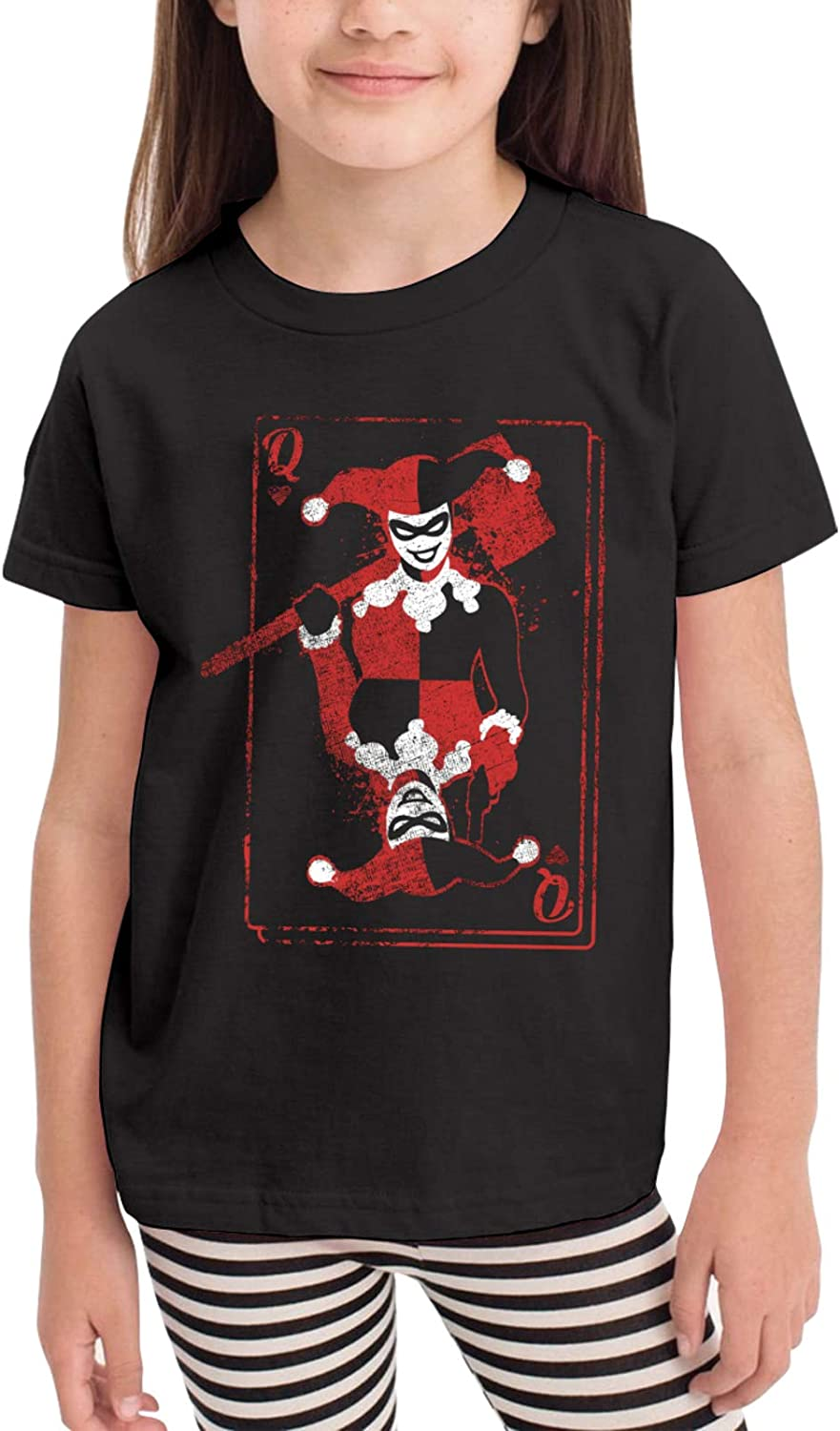 Clown Girl Children's T-Shirt, for 2-6 Years Old Boys & Girls Cotton Toddler Tees, Kids Classic Comfortable Short Sleeve Tops