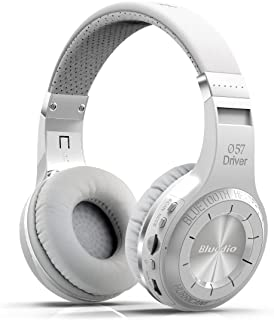 Bluedio H Plus (Turbine) Wireless Bluetooth Headphones V4.1 Bass Stereo Over-ear Headset with Mic FM Radio Support SD Card for iPhone Samsung (White)