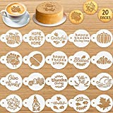20 Pieces Thanksgiving Cookie Stencil Fall...