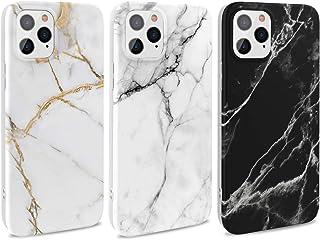 MUSESHOP 3X Funda iPhone 12 Pro 6.1'' Carcasa Mármol Gel Mate Case Ultra Delgado TPU Goma Cover Protectora para iPhone 12 ...