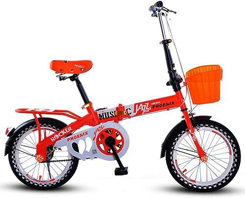 Fenfen Faltbares fürrad der Kinder 16 Zoll-Jungen und mädchen fürt 6-10 Einjahresmädchen Rad, Das Rosa Radfürt (Farbe   Orange)