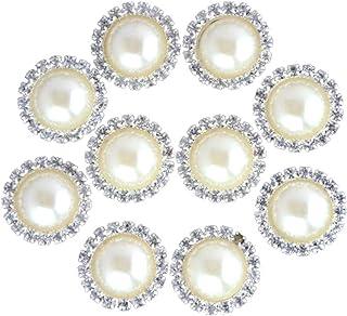 SUPVOX 10 stücke Flatback Strass Taste Perle Blume Flatback Verschönerung für DIY Handwerk Kleidung Haarschmuck Dekor