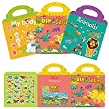 Fresion Reusable Static Sticker Books,3 Pack...