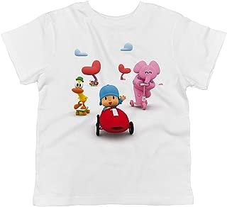 Pocoyo - Pocoyo, Pato and Elly Racing 100% Cotton Toddler T-Shirt