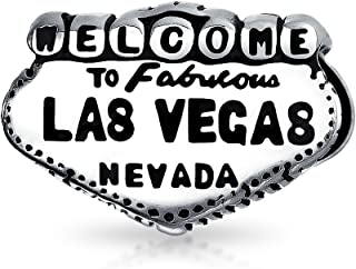 Welcome To Las Vegas Landmark Sign Vacation Travel Charm Bead For Women Sterling Silver Fits European Bracelet