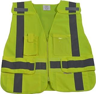 Petra Roc LV2-LPSV-REG ANSI-107 Class 2 Contrast Public Safety Vest, Small/X-Large, Lime Solid