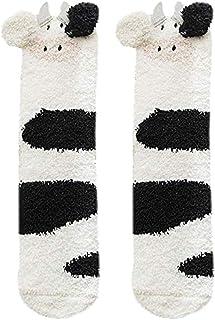 Calcetines Mujer Invierno,Animal 3D Calcetines Gruesos y Cálidos para Dormir,Calcetines de Felpa de Coral Calcetines de Tubo Femeninos Cómodos Felpa Calcetines de Casa Antideslizante Mujer