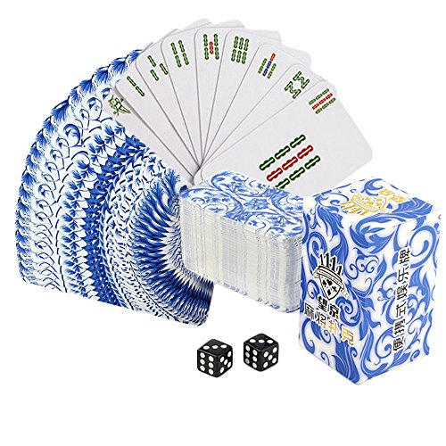 Drizzle Poker Mahjong Playing Cards Table Game Chinese Blue and white...